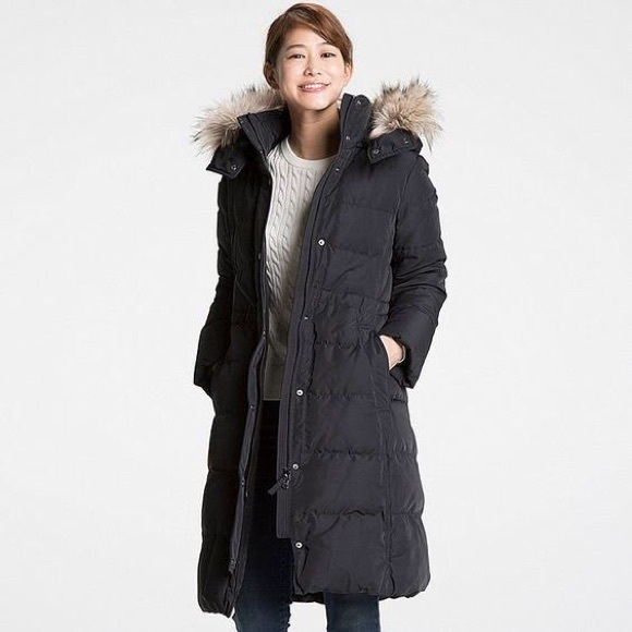0016916f4 NAVY Uniqlo Women's Ultra Warm Down Coat XS